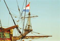Niederländisches VOC-Schiff vom goldenen Jahrhundert von den Niederlanden stockfotografie