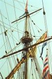 Niederländisches VOC-Schiff vom goldenen Jahrhundert von den Niederlanden stockfotos