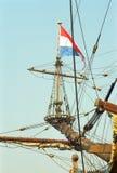 Niederländisches VOC-Schiff vom goldenen Jahrhundert von den Niederlanden stockfoto