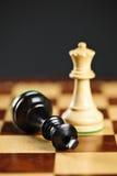 Niederlage im Schach Lizenzfreie Stockfotos