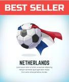 Niederlande-Fußball oder -Fußball Fußballnationalmannschaft Auch im corel abgehobenen Betrag vektor abbildung