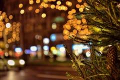 Niederlassung des verzierten Weihnachtsbaums Lizenzfreie Stockbilder