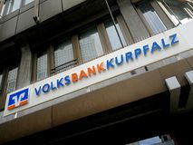 Niederlassung Volksbank Kurpfalz Stockfotografie