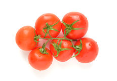 Niederlassung von reifen Tomaten stockfotos