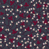 Niederlassungen von Erdbeeren Nahtloses Muster Stockbilder