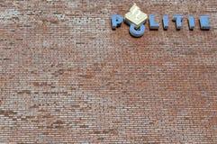 Niederländische Polizei unterzeichnet Lizenzfreie Stockfotografie