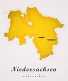 Niedersachen德国艺术地图 免版税图库摄影