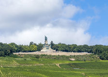 Niederwald memorial with vineyards in the Rhine valley Stock Photos