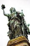 The Niederwald monument Germania. In Rudesheim Stock Photos