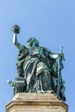 Niederwald monument in Hesse. Niederwald monument represents the union of all Germans - located in the Niederwald landscape park, near Rudesheim am Rhein in Royalty Free Stock Image
