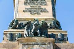 Niederwald monument in Hesse. Niederwald monument represents the union of all Germans - located in the Niederwald landscape park, near Rudesheim am Rhein in Stock Images