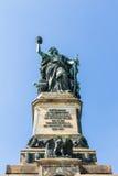 Niederwald monument in Hesse. Niederwald monument represents the union of all Germans - located in the Niederwald landscape park, near Rudesheim am Rhein in Stock Photos
