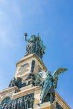 Niederwald monument in Hesse. Niederwald monument represents the union of all Germans - located in the Niederwald landscape park, near Rudesheim am Rhein in Royalty Free Stock Photo
