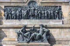 Niederwald monument represents the union of all Germans - locate. D in the Niederwald landscape park, near Rudesheim am Rhein in Hesse, Germany stock photo