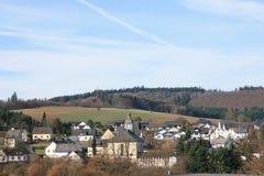 "Niederwoerresbach,Ge. View  on Niederwörresbach"" a small  village in Rheinland Pfalz,Germany Royalty Free Stock Photo"
