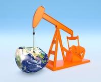 Niedobór złoża ropy naftowej - elementy ten wizerunek meblujący obok Zdjęcie Royalty Free