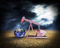 Niedobór złoża ropy naftowej - elementy ten wizerunek meblujący obok Zdjęcia Royalty Free