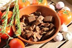 Niedojrzały jackfruit jest doskonalić apetycznym weganinu mięsa namiastką obrazy royalty free