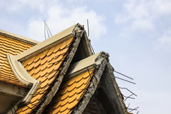 Niedokończona budowa świątynia dach Obrazy Stock
