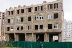 Niedokończona budowa mały kondygnacja budynek mieszkalny Fotografia Stock