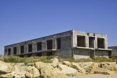 Niedokończony budynek szarość blok zdjęcie royalty free