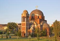Niedokończony Chrystus wybawiciel katedra w Pristina, Kosowo obrazy royalty free