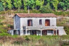Niedokończony dom w kraju zdjęcia royalty free