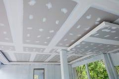 Niedokończony domowy sufit Zdjęcia Royalty Free