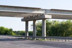 Niedokończony droga most obrazy stock