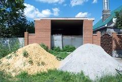 Niedokończony garaż zdjęcie stock