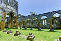 Niedokończony kościół - Bermuda fotografia stock