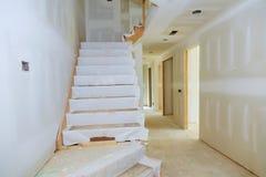 Niedokończony pokój w budowie inside dom obraz royalty free