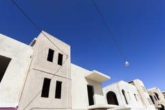 Niedokończeni budynki mieszkaniowi w Grecja Obrazy Royalty Free