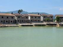 Niedokończeni budynki przy Verona kompleksem obrazy royalty free