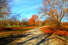 Niedokończona droga przemian w jesieni Fotografia Royalty Free