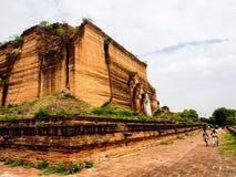 Niedoko?czona pagoda Mingun, Mandalay, Myanmar 1 Zdjęcie Royalty Free