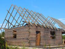 Niedokończony drewniany dom Fotografia Stock