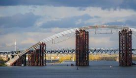 Niedokończony metalu most Zdjęcie Stock