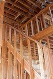 Niedokończony dom ramy wnętrze Fotografia Royalty Free