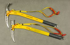 Ice axes - Grivel Air Tech Evolution hammer and adze. Stock Image