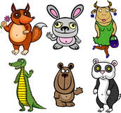 Niedorzeczni zwierzęta ilustracja wektor