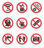 Niedozwolony ikona set Fotografia Stock