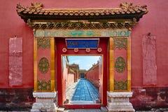 Niedozwolony miasto cesarski pałac Pekin Chiny zdjęcia royalty free