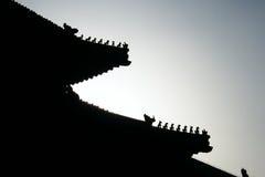 Niedozwolony miasto dachu cyzelowanie, Pekin Porcelanowa podróż obraz royalty free