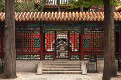 Niedozwolony miasto Gugong w Pekin, Chiny Wewnętrzny pawilon zdjęcie royalty free
