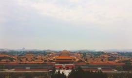 Niedozwolony miasto od above Fotografia Royalty Free