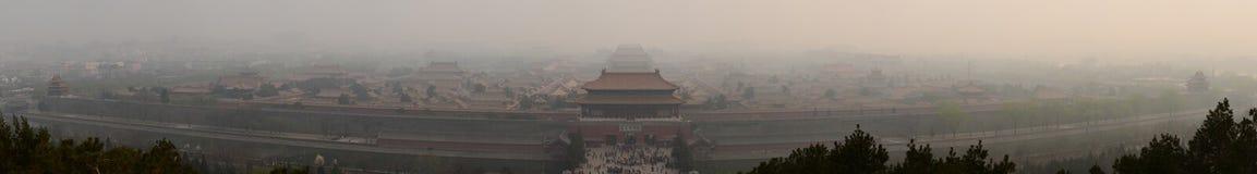Niedozwolony miasto w smogu 2014 Obraz Royalty Free