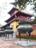 NIEDOZWOLONY pałac, światowy dziedzictwo kulturowe w odcienia mieście WIETNAM Obraz Royalty Free