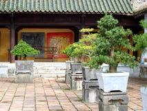 NIEDOZWOLONY pałac, światowy dziedzictwo kulturowe w odcienia mieście WIETNAM Obrazy Royalty Free