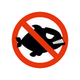 Niedozwolony Piranha Przerwy ryba Czerwony Zabraniając charakter Striketh Zdjęcie Royalty Free